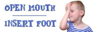 open mouth insert foot
